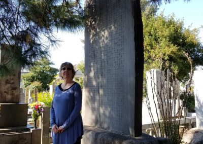 Kandi Austin at the Mikao Usui memorial stone