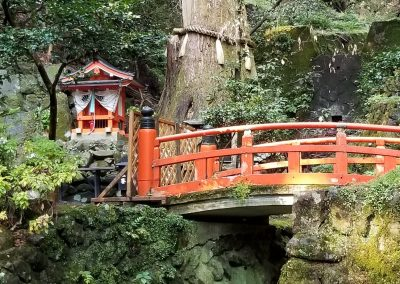 A bridge on the path to Kurama-dera temple