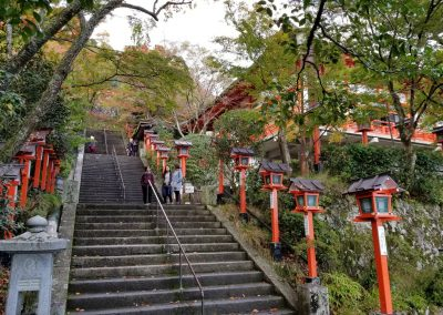 Steps on the path to Kurama-dera temple