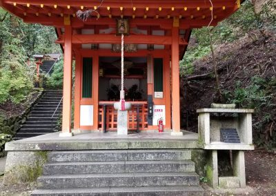 A shrine on the path to Mount Kurama