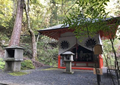 A shrine on the path to Kurama-dera temple