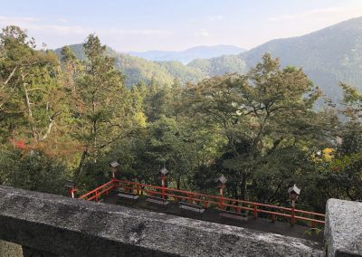 View from Kurama-dera temple