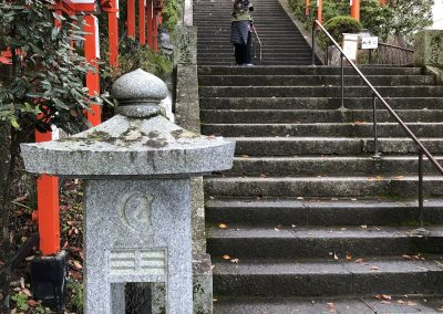 Kandi Austin on the steps to Kurama-dera temple